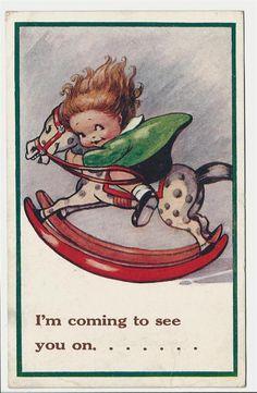 Flora White ~ vintage postcard, via eBay