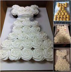 Stylish Board Make an Amazing Wedding Dress Cupcake Cake for ...