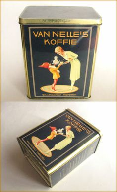 Old Dutch Rotterdam VAN NELLE'S coffee litho tin