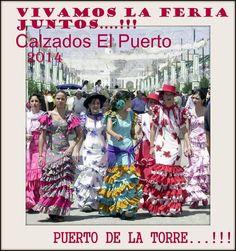 cartel de la feria en Puerto de la Torre por Calzados El Puerto