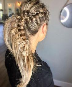 Coiffures de queue de cheval tresse pour cheveux longs, Idée de queue de cheval longue