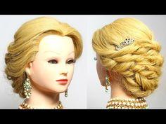Prom hairstyle. Wedding updo. Bridal/bridesmaid long hair tutorial - YouTube