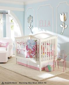 perfect girl nursery...not too pink but still very sweet! :)