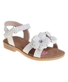 White Double-Flower Sandal