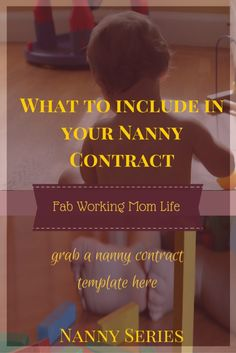 What important details to include in a Nanny Contract