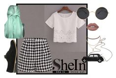 """""""Shein Loose Top"""" by juultje-1177 ❤ liked on Polyvore featuring Emma Cook, Alice + Olivia, Aqua and Lime Crime"""