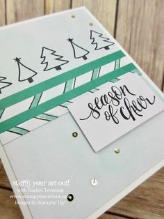 Click here to see how to double the cards in the Watercolor Christmas Kit. (This is one of the 8 designs I came up with by just reallocating the supplies in the kit and adding in some extra Whisper White cardstock and envelopes!)…#stampyourartout - Stampin' Up!® - Stamp Your Art Out! www.stampyourartout.com