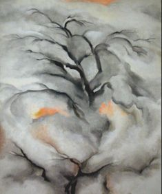 Georgia O'Keeffe Winter Trees, Abiquiu, I, 1950 Oil on canvas Private collection, on loan to Museum of New Mexico