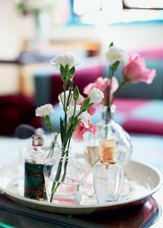 Vasinhos de vidros de perfume