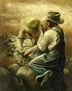 'Missouri Wheat Farmers' by Joe Jones