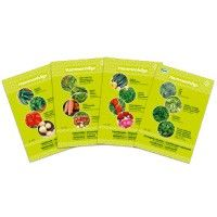 Fyra h�rliga teman med influenser av smaktrender fr�n v�rldens k�k. Fyra sorters fr�er  i varje p�se.  <br><br /><br />Vi kan rekommendera att man k�per ett minidrivhus f�r att odla fr�erna.  <br />Passa p� att handla andra fr�er, l�kar, potatis, svamp och odlingstillbeh�r till rabatterade priser<br><br />Kostnadsfri fr�p�se g�ller endast dig som �r elkund hos Vattenfall.<br />Vi ber dig d�rf�r ange ditt <b><u>kundnummer nedan. </b></u><br /> [24,00�kr]