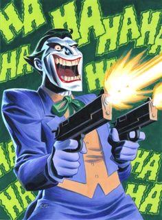 BATMAN: ANIMATED — The Joker, by Bruce Timm source: cooketimm