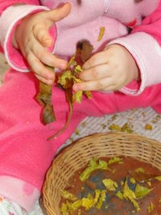 Atividades de outono!!! sensorial nature table , small world...