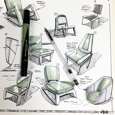 joelbellid#2ndhalf of the #11x17 quick #chair #markerdemo for my #productdesign…