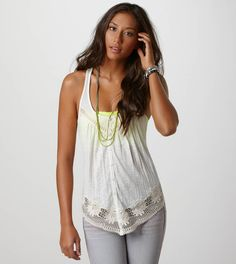 Crocheted Racerback Tank  This is so cute. Can't wait for it to be summer.