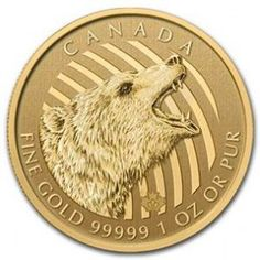 2016 Canadian Gold Roaring Grizzly 1oz.