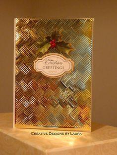 The Golden Basketweave Christmas Look! - Scrapbook.com