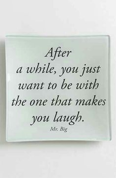 As long as I'm laughing with you.....