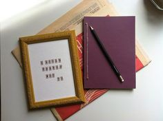 I Woul Prefer Not  To Handmade Notebook