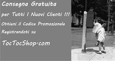 Spese di Spedizione Gratuite per Tutti i Nuovi Clienti che Si Registrano qui www.toctocshop.com/customer/account/create