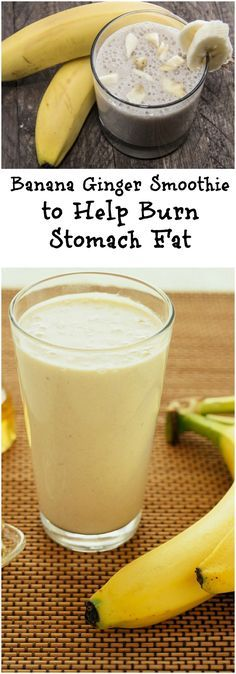 Smoothie Recipes Banana and Ginger Smoothie for Weight Loss - Today, I will share some recipes for healthy and delicious smoothies that will help with weight loss. Smoothie Bowl Vegan, Smoothies Vegan, Juice Smoothie, Smoothie Drinks, Detox Drinks, Homemade Smoothies, Breakfast Smoothies, Spinach Banana Smoothie, Flaxseed Smoothie