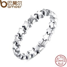 BAMOER Star Trail Stackable Finger Ring For Women Wedding 100% 925 Sterling Silver Jewelry 2016 New Collection PA7151 //Price: $19.32 & FREE Shipping //     #hashtag2