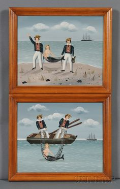 Ralph Eugene Cahoon, Jr. (Cotuit, Massachusetts, 1910-1982) Two Works: The Catch of the Day. | Sale Number 2669M, Lot Number 513 | Skinner Auctioneers