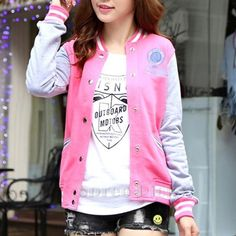 Size S-XXL Autumn Fashion Joint Colors Baseball Uniform Jacket Coat Free Ship SP141423
