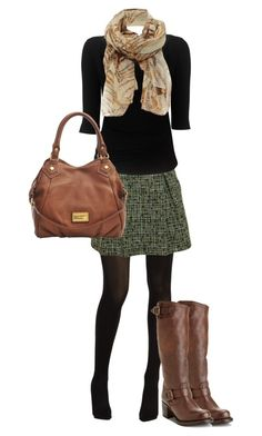 """Tweed Skirt"" by jillscribbles ❤ liked on Polyvore featuring Hue, Chanel, Vivienne Westwood Anglomania, Frye, Marc by Marc Jacobs, Jane Norman and tweed skirt"