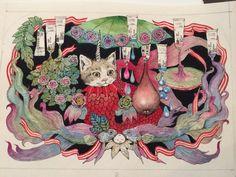 ホルベインさんとのコラボの原画。トランクになりました。 higuchiyuko note