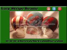 Lazy Stripe Beanie Tutorial - YouTube