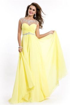 Fancy Long Yellow Prom Dress 2017 Cheap Outfits For Sale