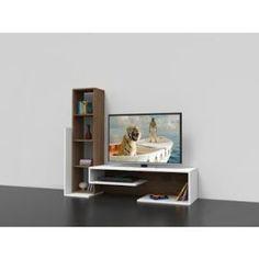 Sade ve fonksiyonel Tv Shelf Design, Tv Wall Design, Tv Unit Decor, Tv Wall Decor, Modern Tv Wall Units, Modern Tv Cabinet, Muebles Rack Tv, Tv Unit Furniture, Living Room Tv Unit Designs