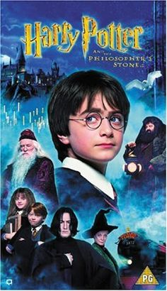 Harry Potter and the Philosopher's Stone (2001). Directed by Chris Columbus.  With Daniel Radcliffe, Rupert Grint, Richard Harris, Maggie Smith. Rescued from the outrageous neglect of his aunt and uncle, a young boy with a great destiny proves his worth while attending Hogwarts School of Witchcraft and Wizardry.