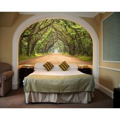 "Free Shipping. Buy Startonight Mural Wall Art Trees Tunnel Illuminated Nature Landscapes Wallpaper Photo 5 Stars Gift Medium 3 x 24,02 '' x 50,4 '' Total 4'2""x 6' at Walmart.com"