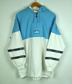 Vintage 90s Fila International Hoddie With Big Spell Out At Spelling 3da34bb72