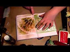 ▶ JournalArtista LIVE: Color Wash Dylusions Black Gesso Ghosting - YouTube