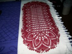 Oval Pineapple doily in Claret by gcraftsm1 on Etsy, $30.00