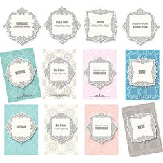 Decorated frame and backgrounds template for wedding invitations vector free for download and ready for print. Over 10,000+ graphic resources.