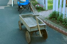 Very OLD antique wooden wagon