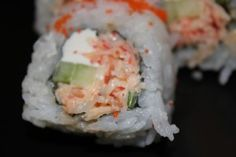 Spicy crab sushi. (Can't say I've ever made sushi before...but sounds delicious!)