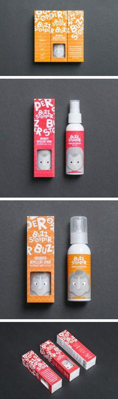 BuzzStopper spray packaging by Jay Liu Branding Workshop, Jar Design, Pretty Packaging, Packaging Design Inspiration, Brand Packaging, Package Design, Visual Identity, Product Design, Branding Design
