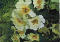 PRIMROSES - ACEO - ORIGINAL PAINTING - INK AND WATERCOLOUR £10.00