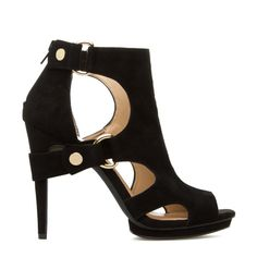 Skin-baring cutouts are only the start to the sexy silhouette of this genuine-suede bootie. Faina by JESSICA SIMPSON brings an edgy twist wi...