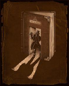Literary murder / Asesinato literario (ilustración de Enkel Dika)