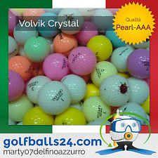 50 VOLVIK CRYSTAL COLORATE MISTE PALLINE PALLE DA GOLF USATE CAT. PEARL-AAA