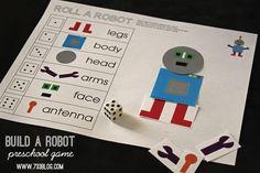Build A Robot Preschool Game - seven thirty three