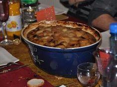 poivre, pruneaux, cuisse de canard, épice, pistache, pomme de terre, poireau, oignon, abricot, ail, ail, raisins secs, riesling, carotte, gros sel