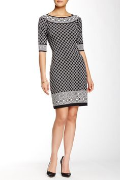 Max Studio Printed Shift Dress // Ordered the last one in this print & my size. Casual Dress Outfits, Classy Outfits, Stylish Outfits, Short Dresses, Dresses For Work, Frack, Nordstrom Dresses, Fashion Dresses, Woman Dresses