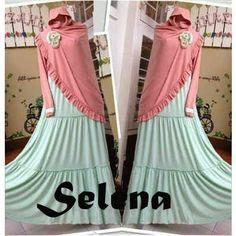 Jual Baju Gamis Syari Selena Y806 Keren - http://www.bajugamisku.com/baju-gamis-syari-selena-y806